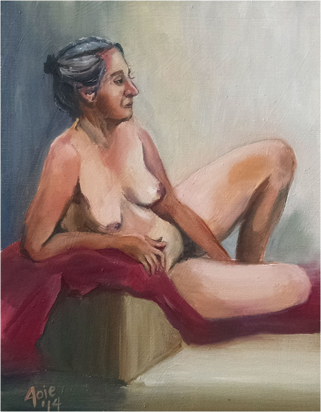 """LOUNGE"" - 11x14"" Original Oil Painting"