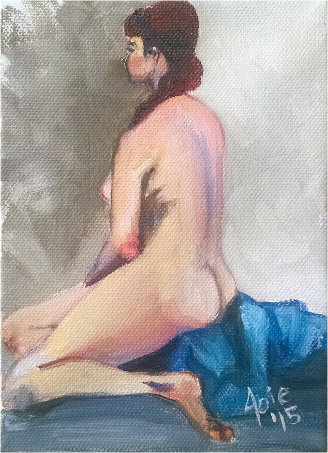 """BACK TURNED"" - 5x7"" Original Oil Painting"
