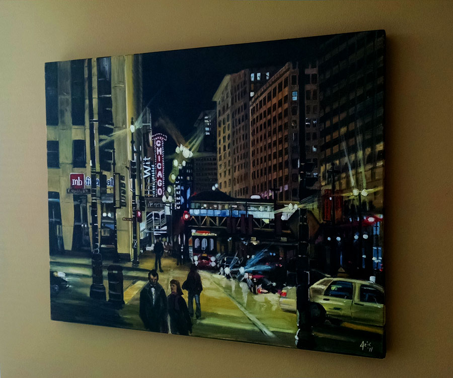 """After the Show"" - 30x24"" Original Chicago Oil Painting"