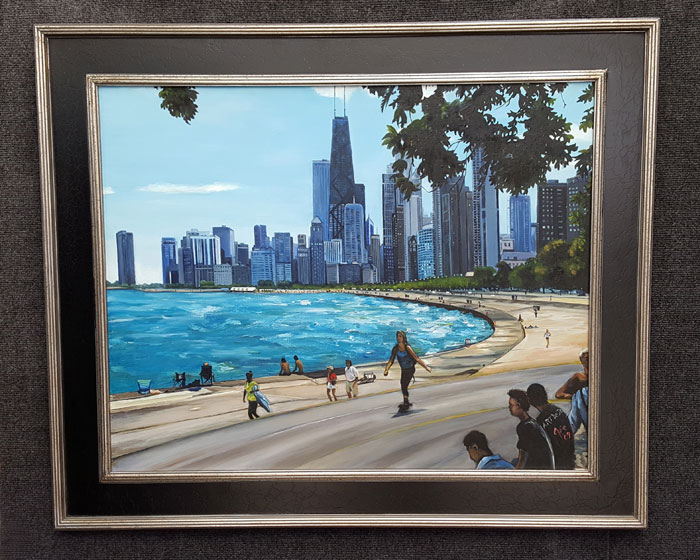 """ALONG LAKE MICHIGAN"" - Original Oil Painting"