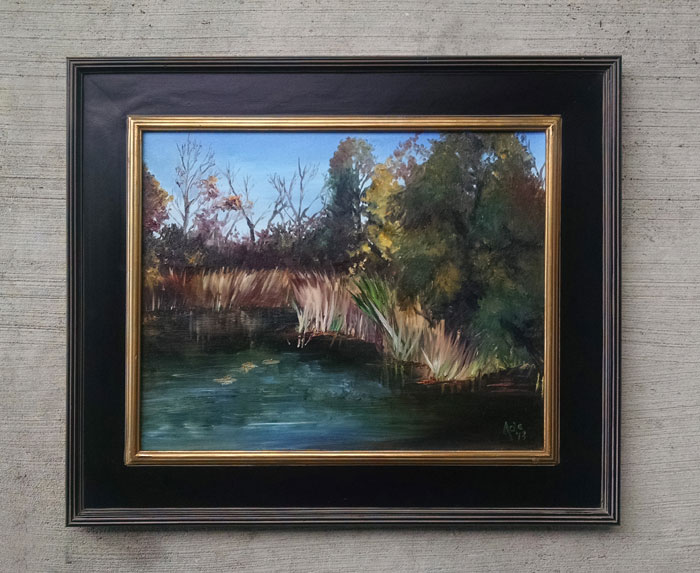 """AUTUMN MARSH"" - 20x16"" Original Oil Painting"