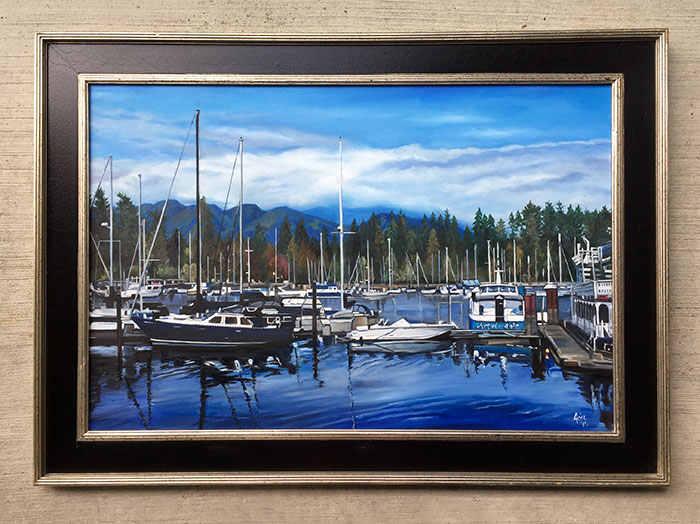 """BOAT PARK"" - 36x24"" Original Oil Painting"