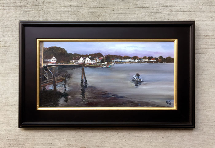 """DOCK OF THE BAY"" - 24x12"" Original Oil Painting"