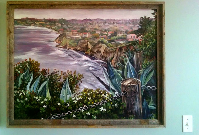 """HIKING LA JOLLA"" - Original Oil Painting"