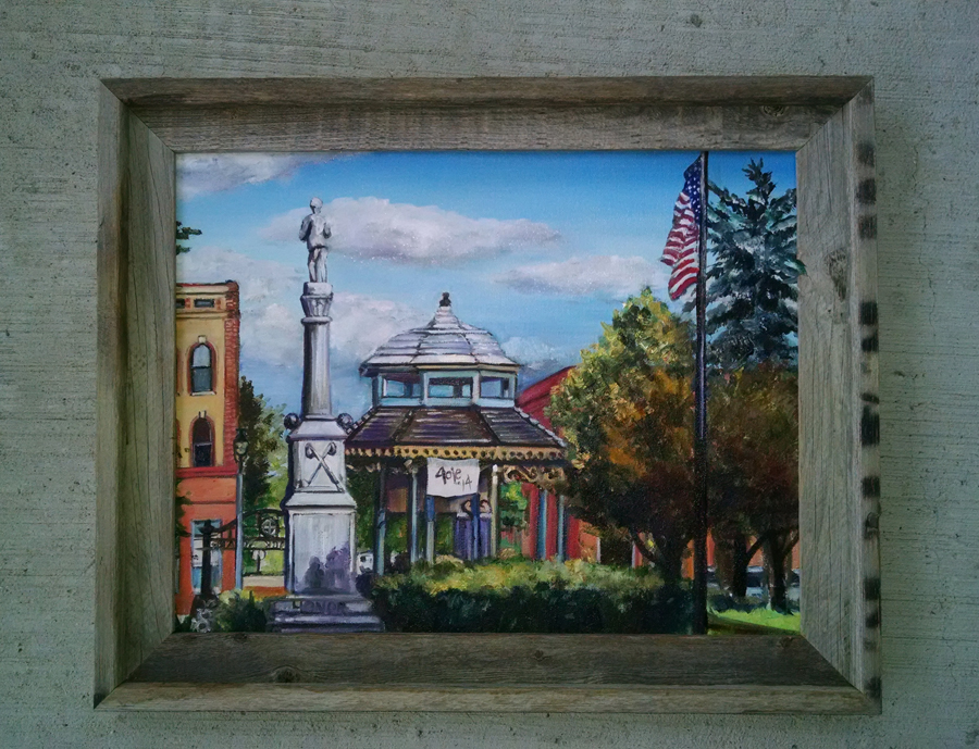 """HOMETOWN USA"" - 18x14"" Original Oil Painting"