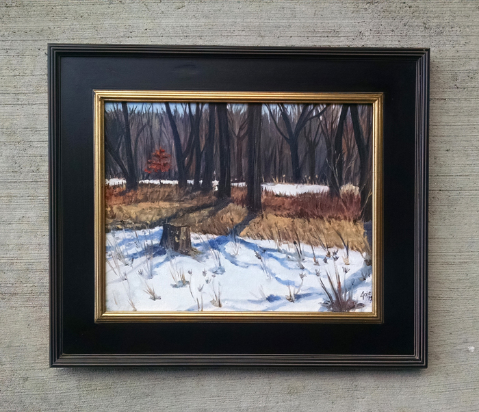 """LAST SNOW"" - 18x14"" Original Oil Painting"