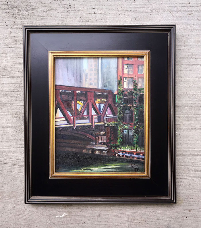 """Riverside Bridge"" - 11x14"" Original Oil Painting"