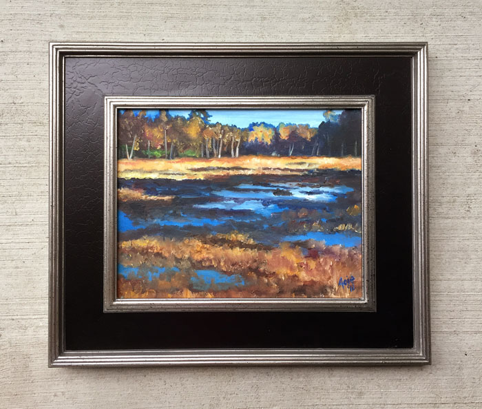 """SWEDISH MARSH"" - 14x11"" Original Oil Painting"