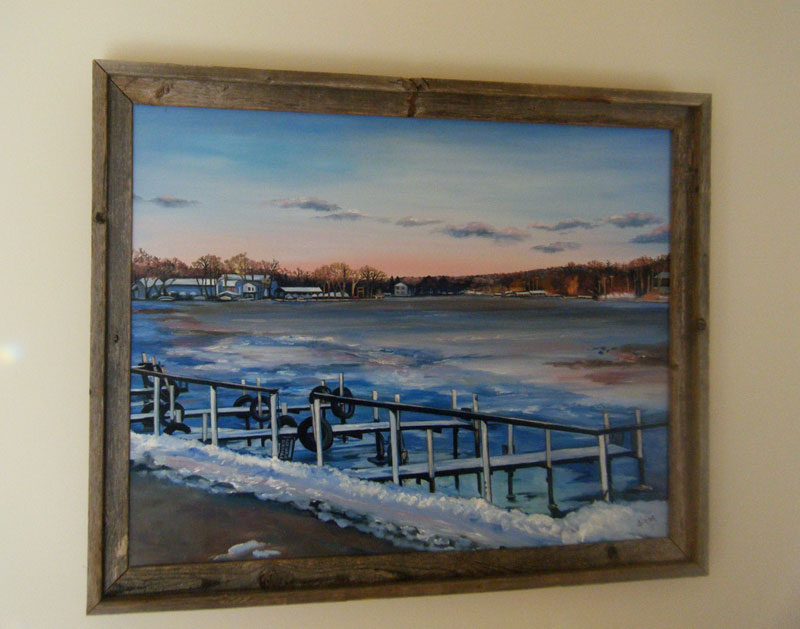 """WAITING FOR BOAT SEASON""- 28x22"" Original Oil Painting"