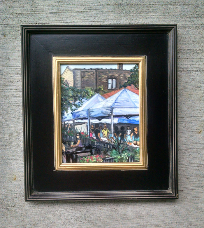 """WEDNESDAY MARKET"" - 8x10"" Original Oil Painting"