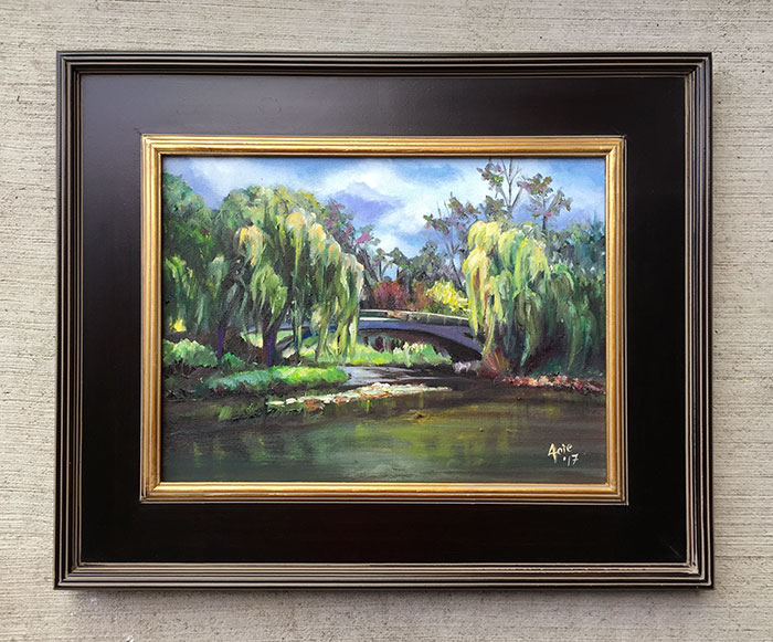 """Willow Bridge"" - 16x12"" Original Oil Painting"