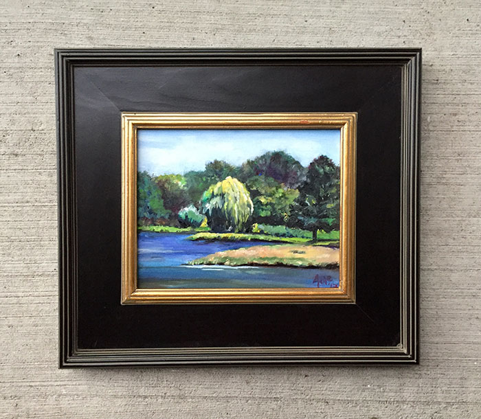 """Willow Pond"" - 10x8"" Original Oil Painting"