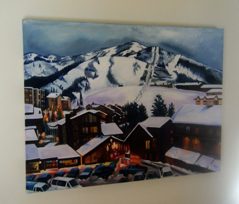 """APRES SKI"" - 40x30"" Original Oil Painting"