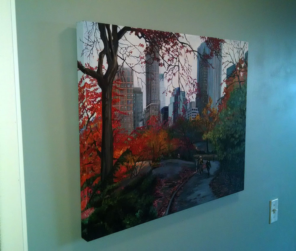 """CENTRAL PARK STROLL"" - 30x24"" Original Oil Painting"
