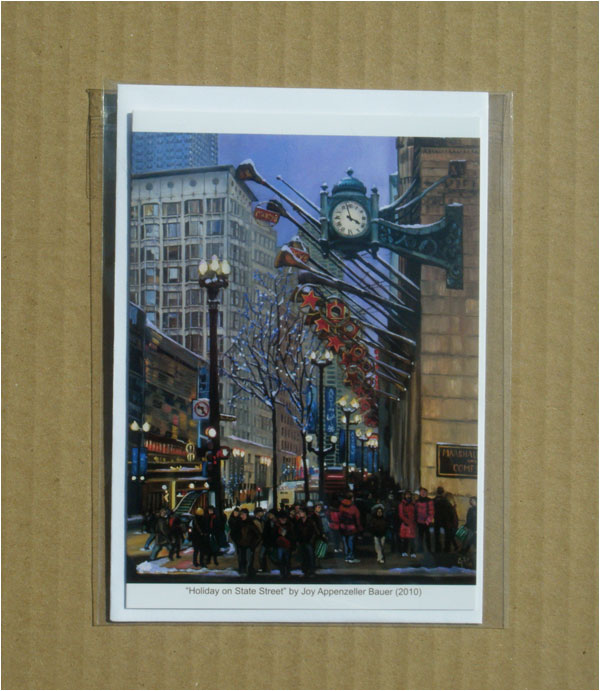 """HOLIDAY ON STATE STREET"" - Individual Greeting Card"