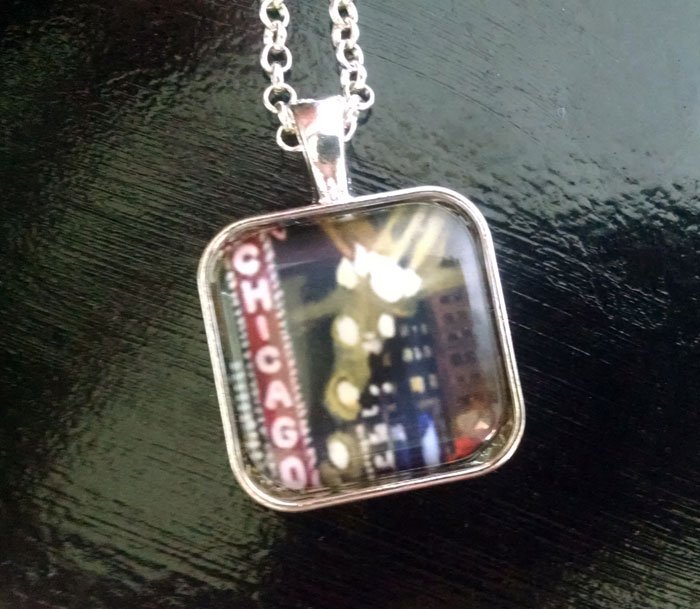 Chicago Theater Art Print Pendant Necklace