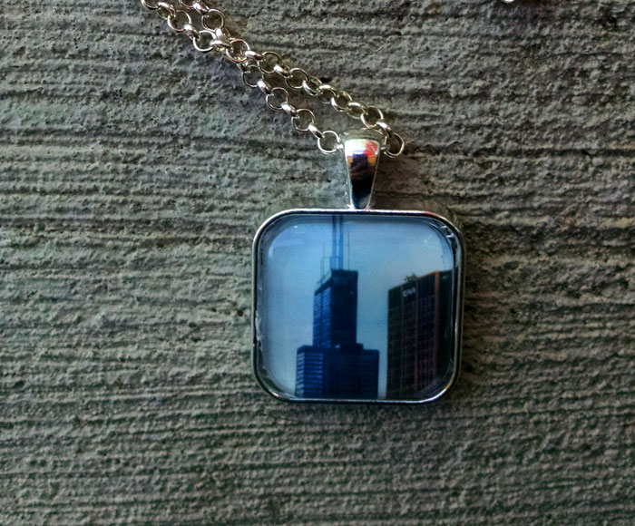 Sears Tower Art Print Pendant Necklace