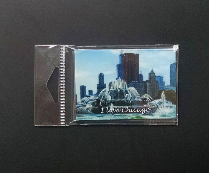 """BACKLIT BUCKINGHAM FOUNTAIN"" - Magnet"
