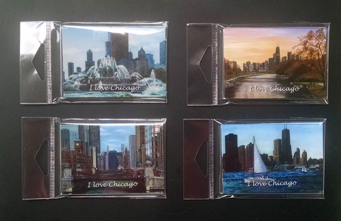 Chicago Magnet Set of 4