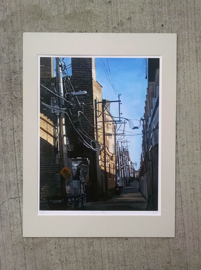 """ELECTRIC ALLEY"" - Matted Print"