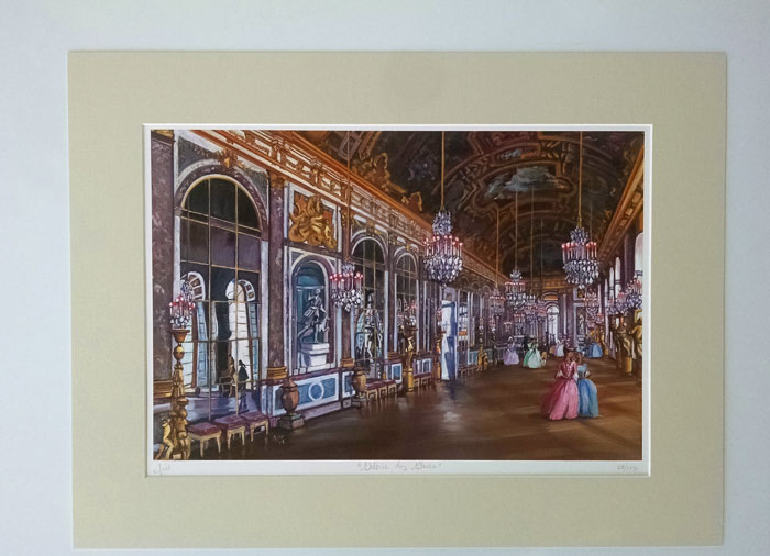 """GALERIE DES GLACES"" - Matted Print"
