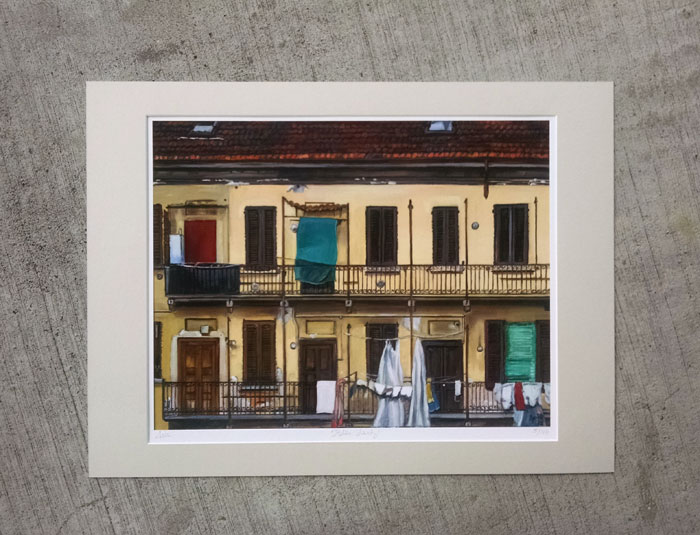 """ITALIAN LAUNDRY"" - Matted Print"