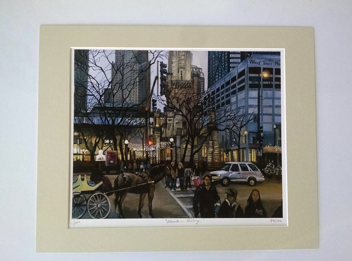 """MIRACLE ON MICHIGAN"" - Matted Print"