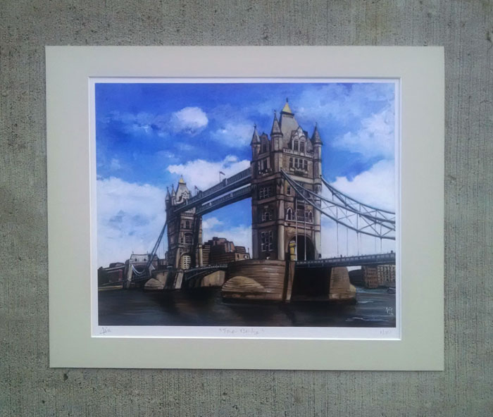 """Tower Bridge"" - Matted Print"