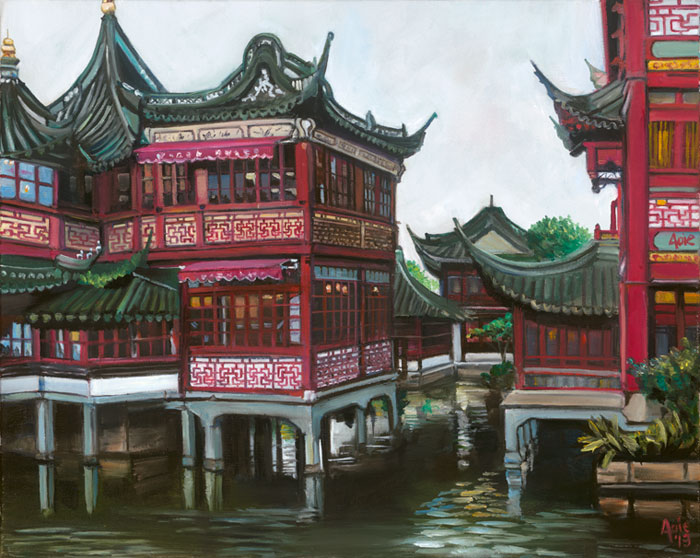 """Old City of Shanghai - 15x12"" Paper Print"