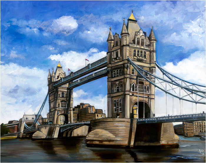 """Tower Bridge"" - 15x12"" Paper Print"