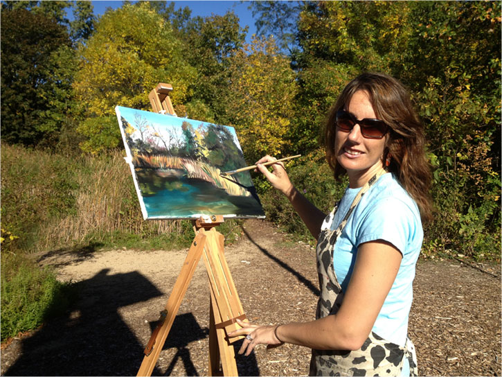 Chicago Plein air artist, Joy Appenzeller Bauer