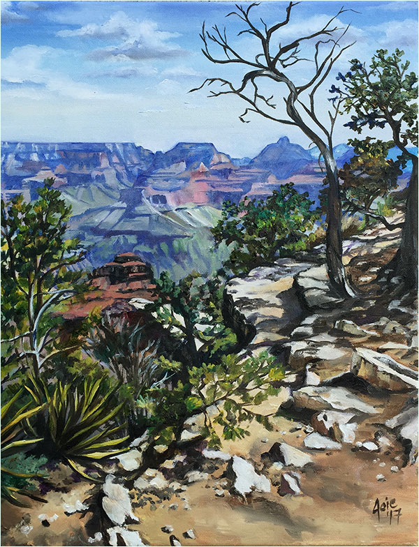 Canyon Path Grand Canyon Painting