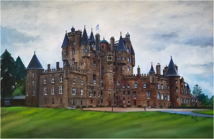 Glamis Castle painting