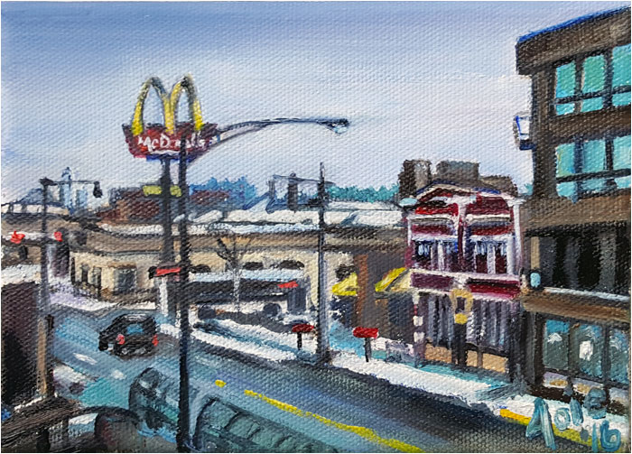 Painting of Chicago Winter Street