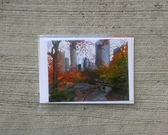 """CENTRAL PARK STROLL"" - Individual Greeting Card"