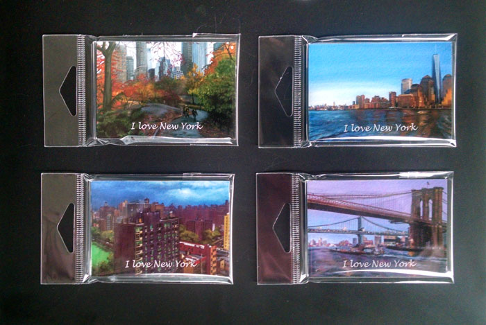 New York City Magnet Set of 4