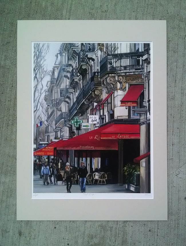 """CAFE ROUGE"" - Matted Print"